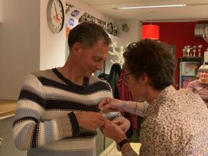 Bart van Doesburg 40 jaar lid